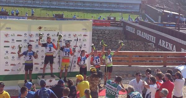 Stupně vítězů sprintu mužů