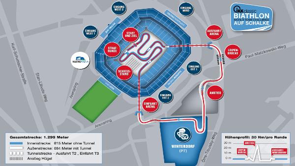Mapa Schalke