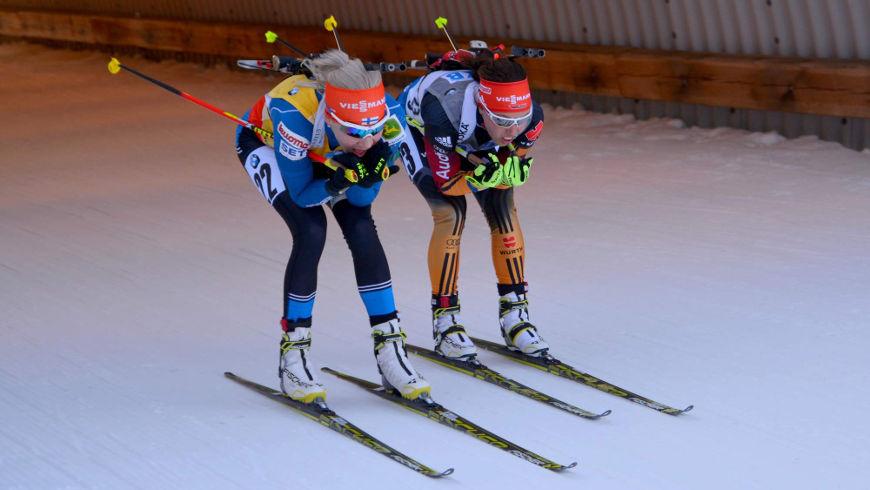Kaisa Mäkäräinenová a Laura Dahlmeierová