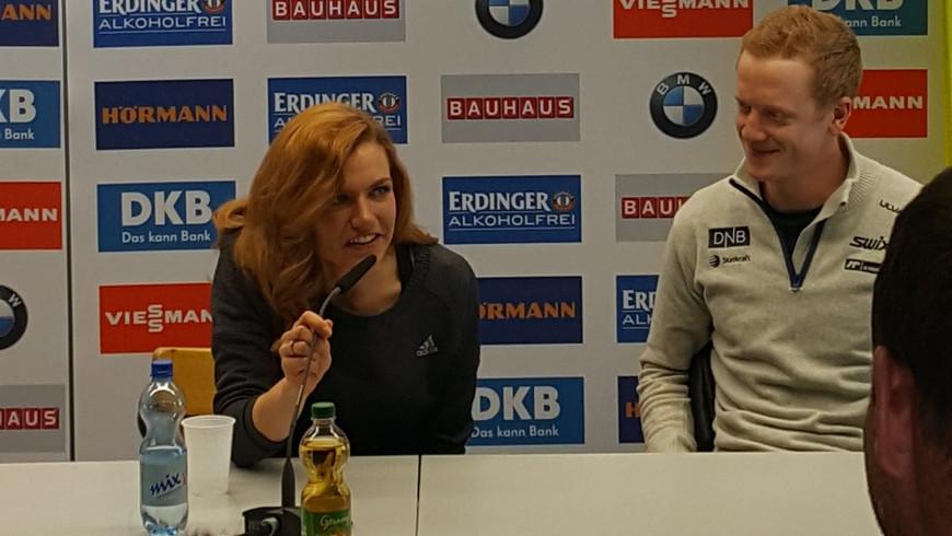 Gabriela Koukalová a Johannes Thingnes Bø