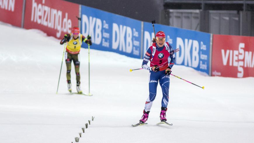 Gabriela Koukalová a Laura Dahlmeierová