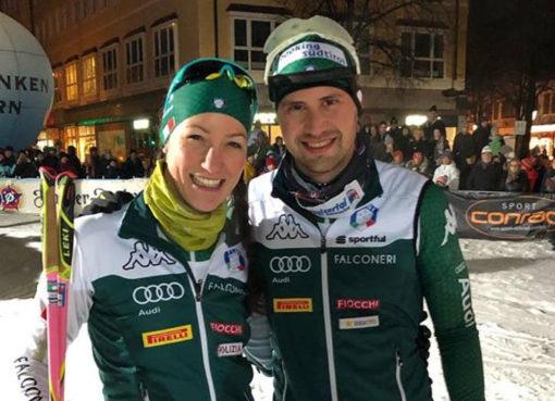 Alexia Runggaldierová a Dominik Windisch