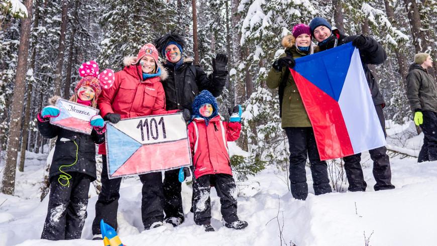Čeští fanoušci v Östersundu