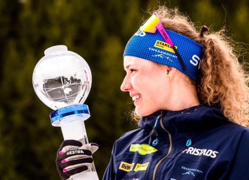 Hanna Öbergová s malým křišťálovým glóbem