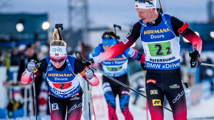 Marte Olsbuová Røiselandová a Johannes Thingnes Bø