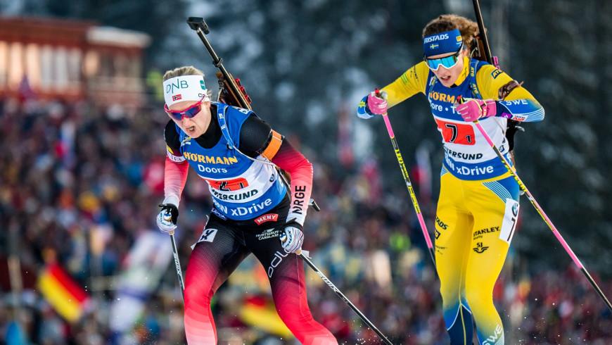Marte Olsbuová Røiselandová a Hanna Öbergová