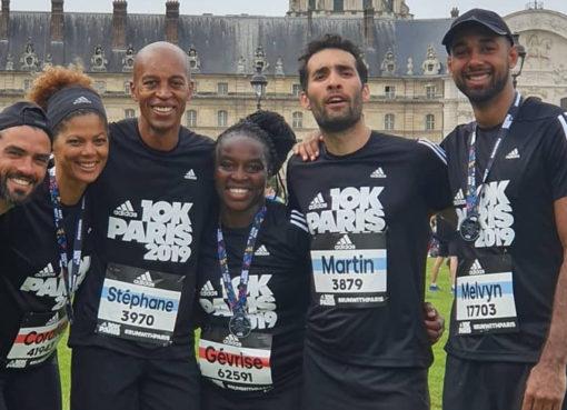 Tým Adidas na desítce v Paříži